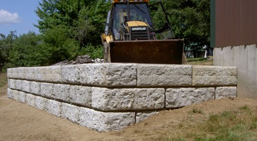Image Result For Building A Retaining Wall With Concrete Blocks